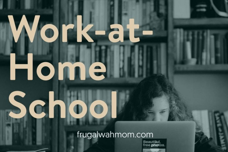 The Work at Home School! Yes, it is a real thing!