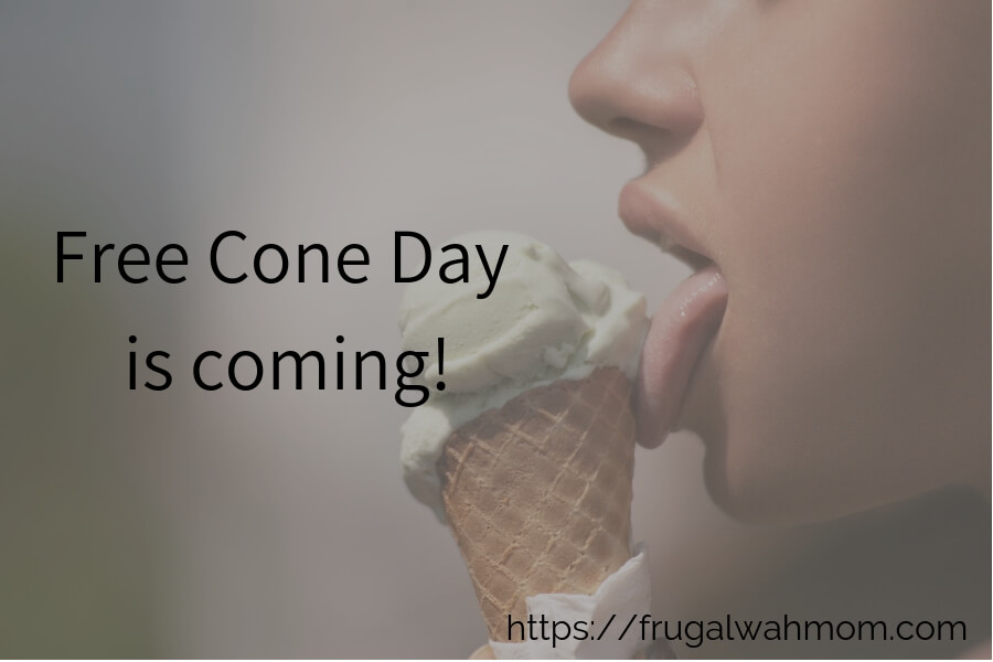 FREE: Cone Day is coming....