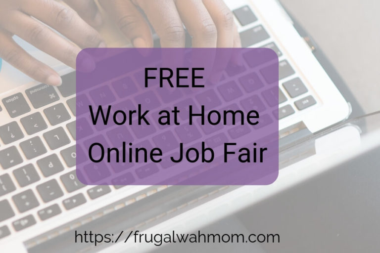 FREE: Work at Home Online Job Fair for October 10, 2019