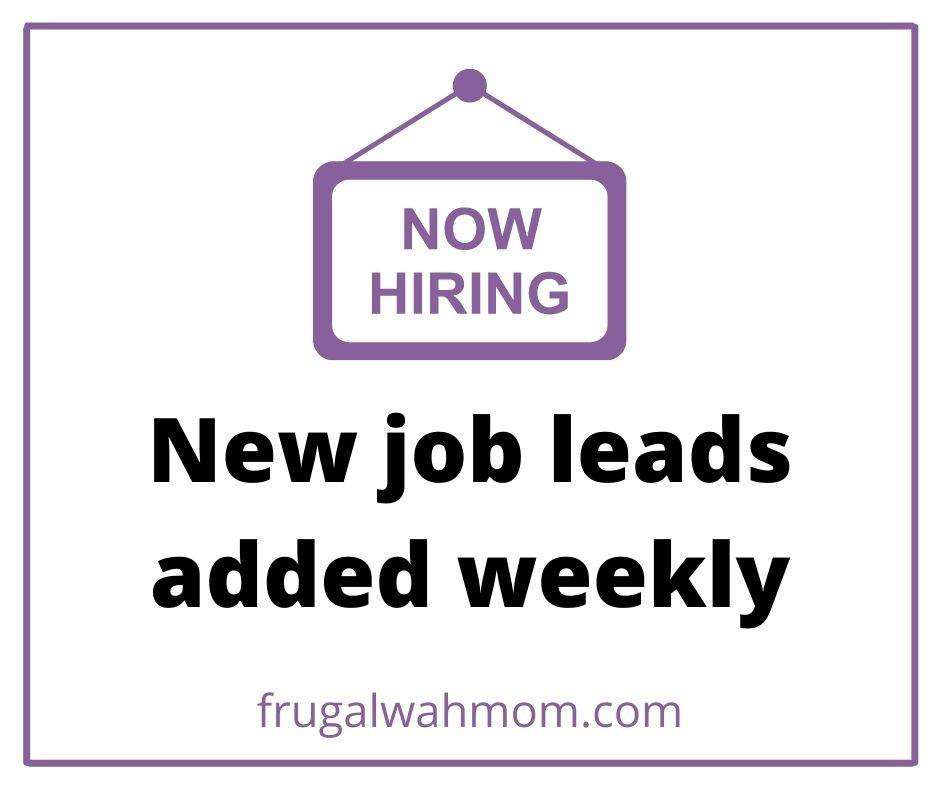 new work at home job leads sign