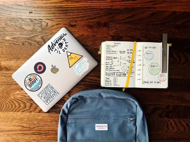 Laptop Book bag Notebook Back to school